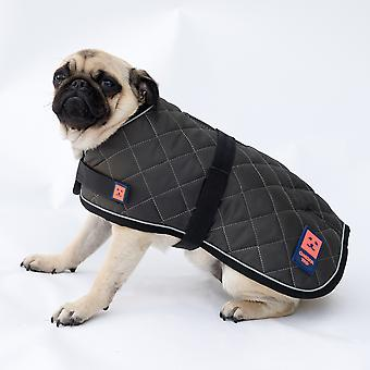 Ginger Ted Warm Quilted Dog Coat with Harness Slotand Warm Fleece Lining (All Sizes)