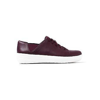 Women's F-Sporty Lace Trainers - Deep Plum Leather