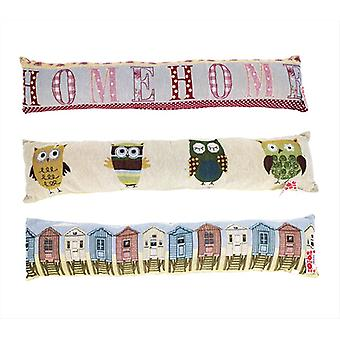 Patterned Fabric Cushioned Home Door Draught Excluder