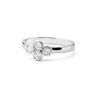Koniczyna kształcie Kensington Forever klasyczne Moissanite pierścień, 0.40cttw rosy