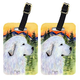 Carolines Treasures  SS8236BT Pair of 2 Great Pyrenees Luggage Tags