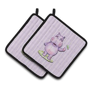 Carolines trésors BB7147PTHD hippopotame paire de gants isolants