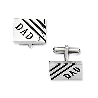 Mens Stainless Steel DAD Cuff Links