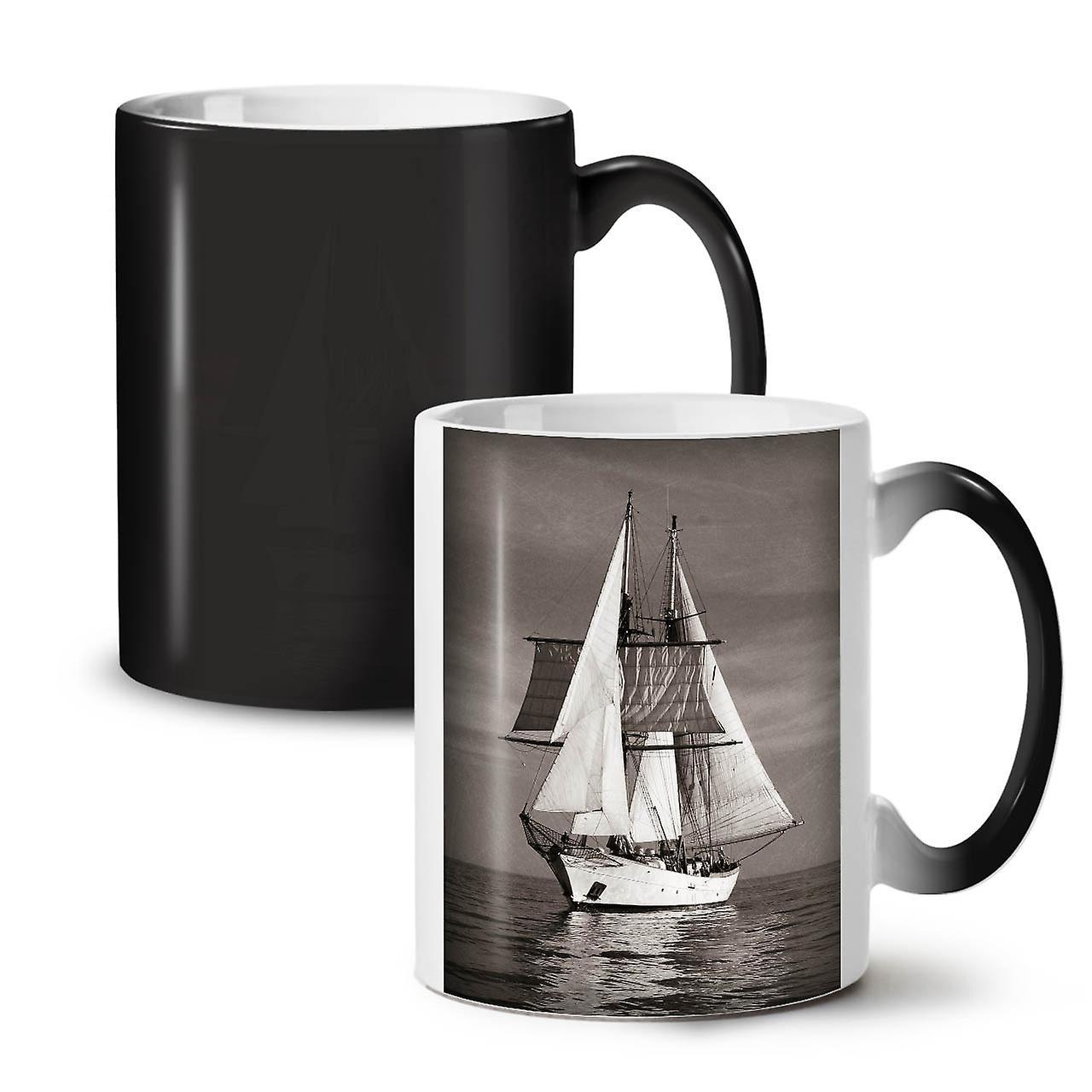 OzWellcoda Navire Coloris Thé Céramique Mer Noire Retro Nouveau Changeant Café Tasse 11 29WEDIHY