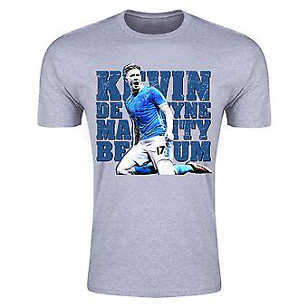 Kevin De Bruyne Man City T-Shirt (Grey) - Kids
