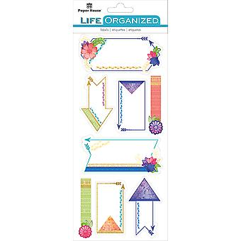 Paper House Life Organized Label Stickers-Live Bold STLB-0004E