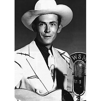 Hank Williams Mic Poster Poster Print