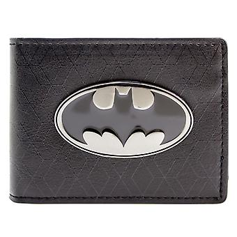 DC Comics Batman Bat Symbol Badge ID & Card Bi-Fold Wallet