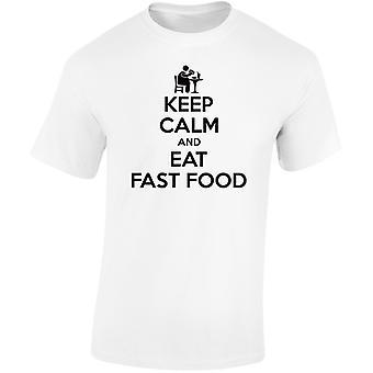 Mantener tranquilo comida rápida niños Unisex camiseta 8 colores (XS-XL) por swagwear