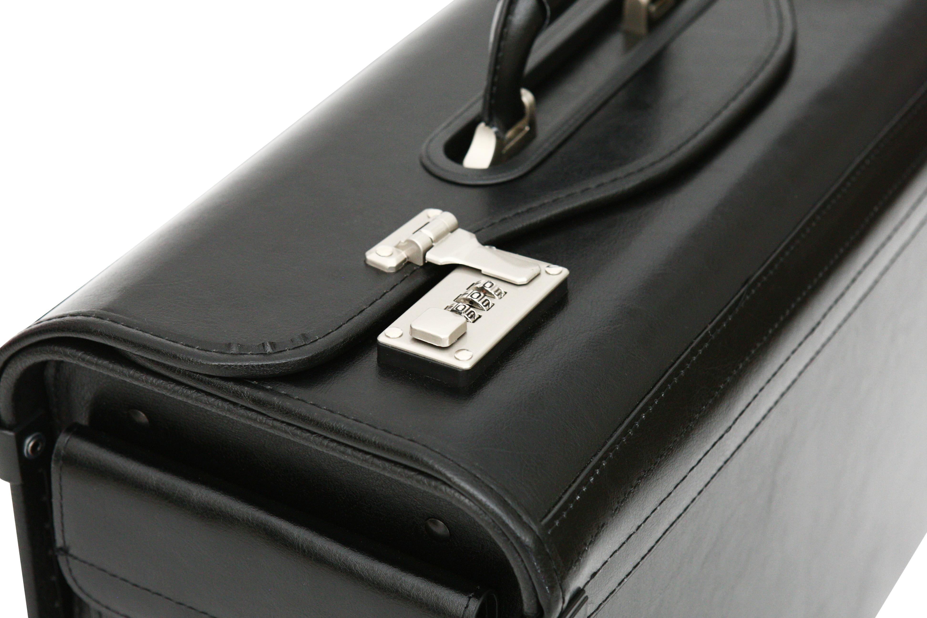 Bonded Leather Pilot Case Doctor Briefcase Hand Luggage Flight Cabin Business Bag