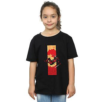 Marvel meisjes Deadpool bloed Strip T-Shirt