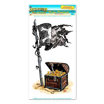Buccia del tesoro dei pirati ' n posto (1 foglio)