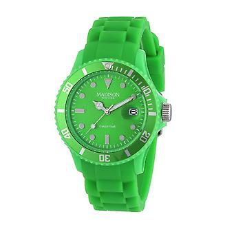 Candy time by Madison N.Y.. watch unisex U4167-10-1 green