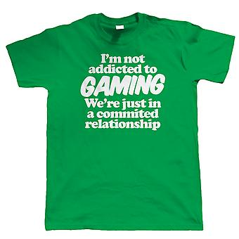 I'm Not Addicted To Gaming, Mens Funny T-Shirt