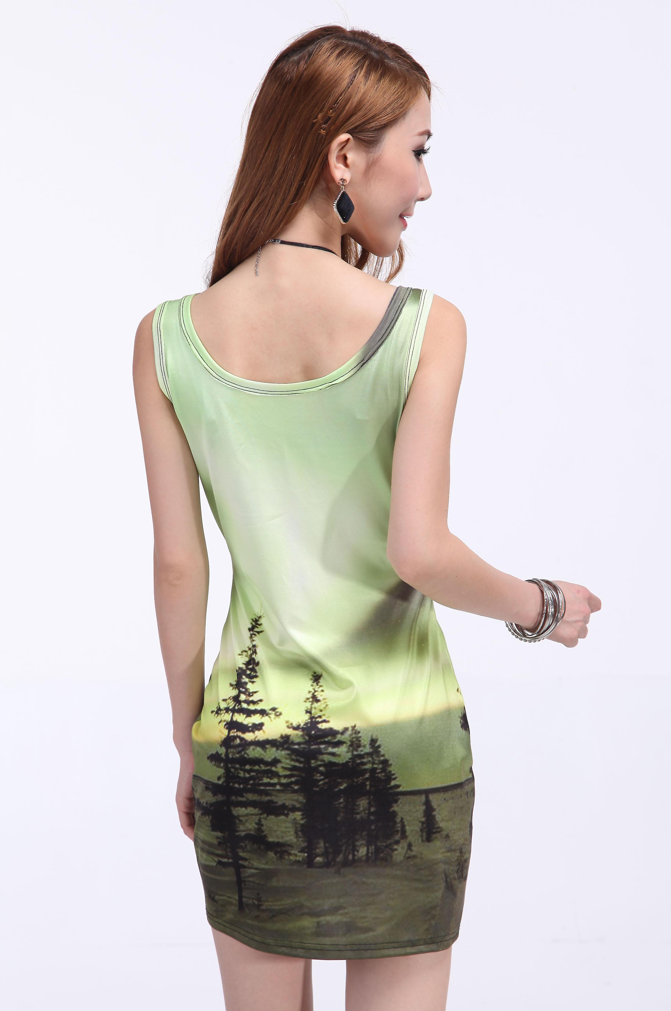 Waooh - Fashion - Short Dress tree motif