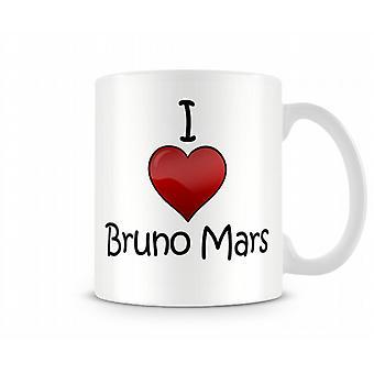 I Love Bruno Mars Printed Mug