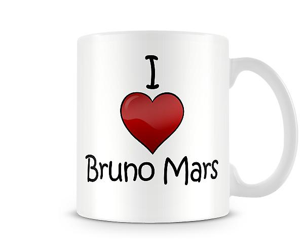 I Love Bruno Mars Printed Mug