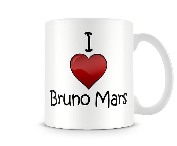 Jag älskar Bruno Mars tryckta mugg