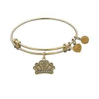 Stipple Finish Brass Princess Angelica Bangle Bracelet, 7.25