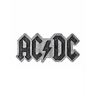 AC/DC Lapel Badge Enamelled classic band Logo new Official Alchemy Silver