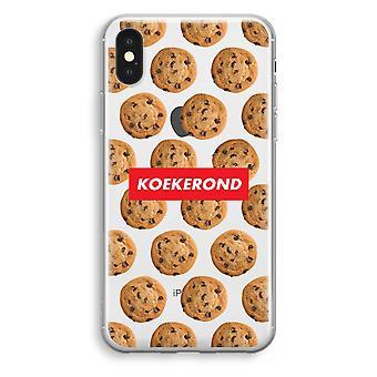 iPhone XS Transparant Case (Soft) - Koekerond