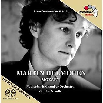 W.a. Mozart - Mozart: Importación Piano Concertos nos. 15 & 27 [SACD] Estados Unidos