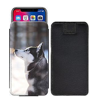 Husky Custom entworfen gedruckt ziehen Tab Tasche Telefon Fall decken für Nokia 6 (2018) [S] - hky04_web