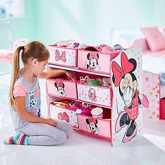 Schap, met vakken houten speelgoed slaan Minnie Disney