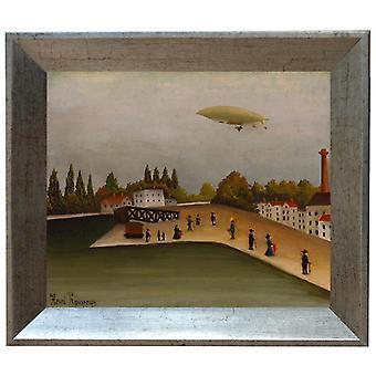On the framework landscape with a Dirigible, Henri Rousseau, 61x51cm