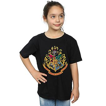 Harry Potter Girls Hogwarts Crest Gold Ink T-Shirt