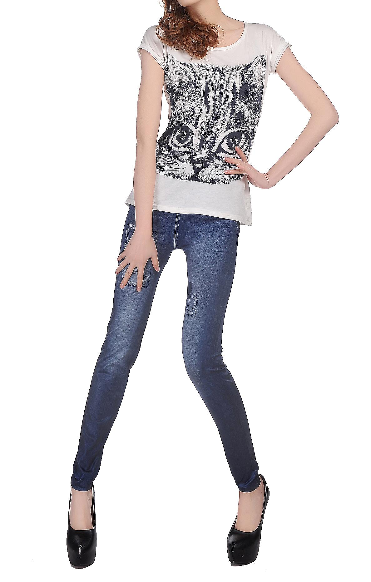 Waooh - Fashion - Leggings and jeans effect inserts sewn
