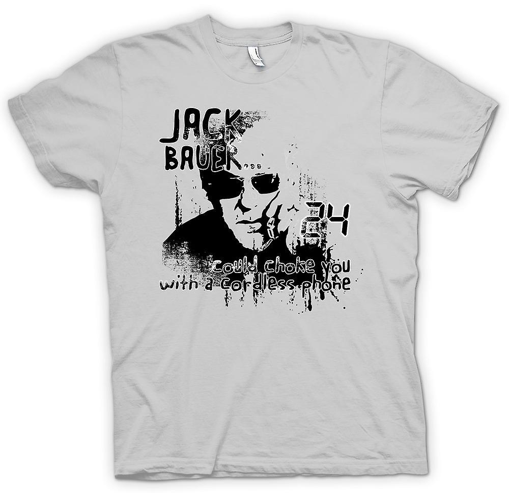 Hombres camiseta-Jack Bauer 24-estrangulación divertido