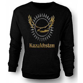 Mens Sweatshirt Kazakhstan - Cool Design Funny