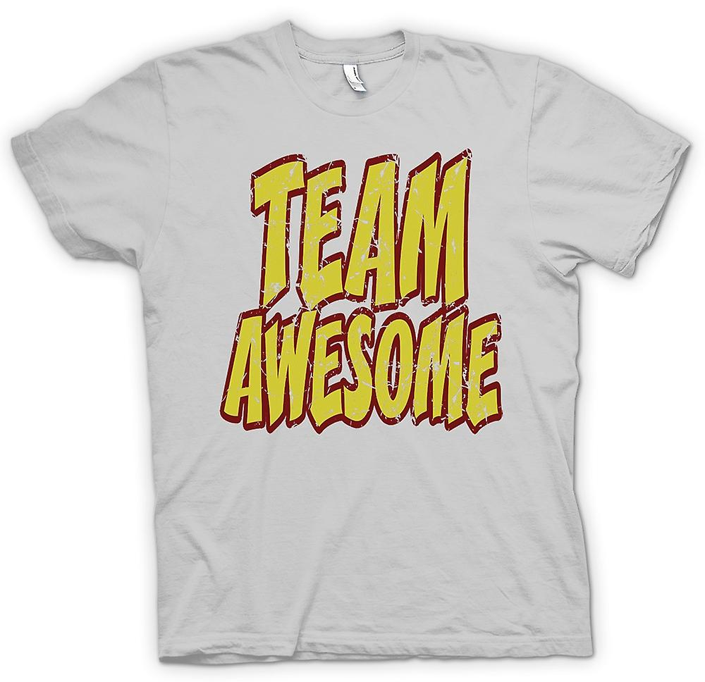 Heren T-shirt - Team geweldig - Funny