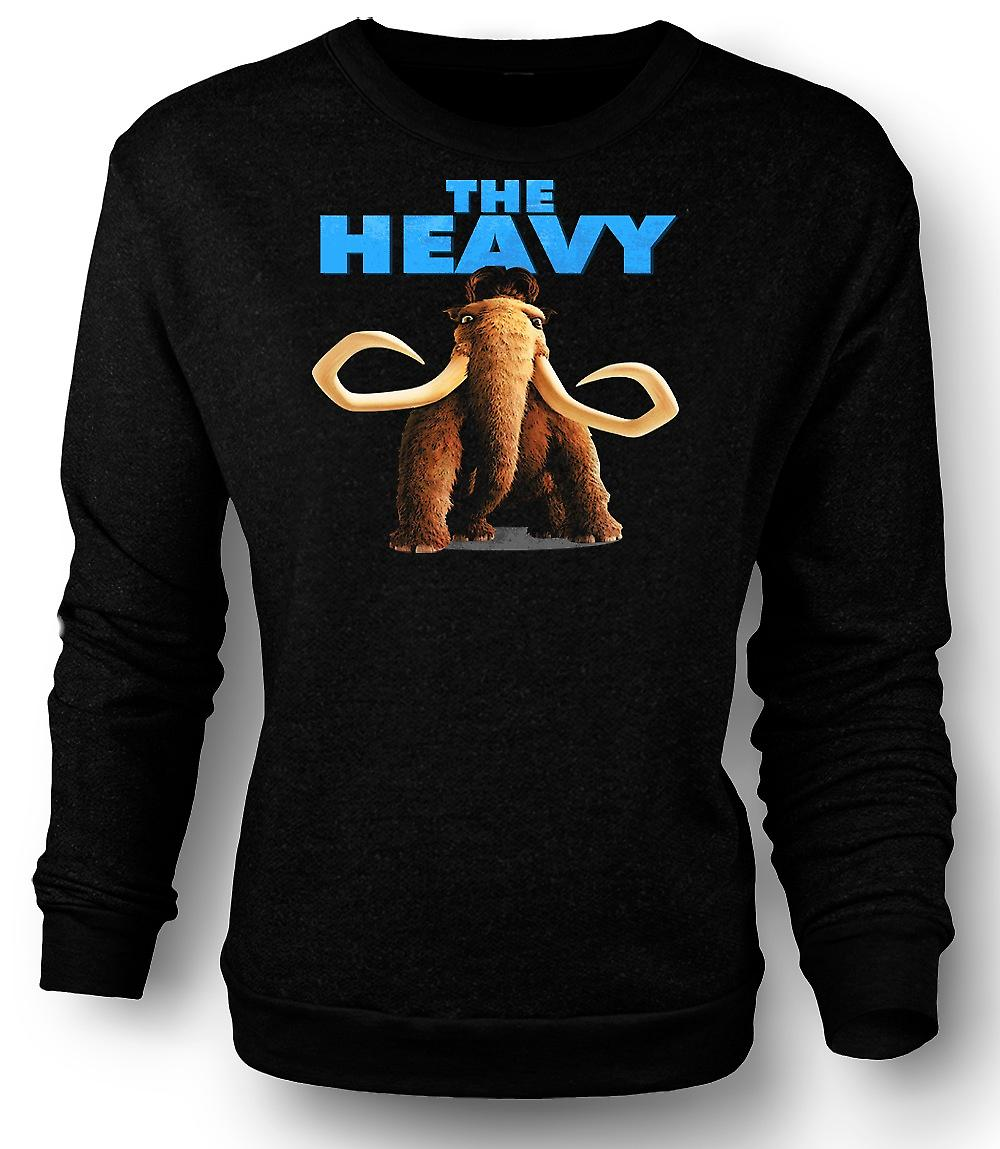 Mens Sweatshirt Ice Age - Manny The Heavy