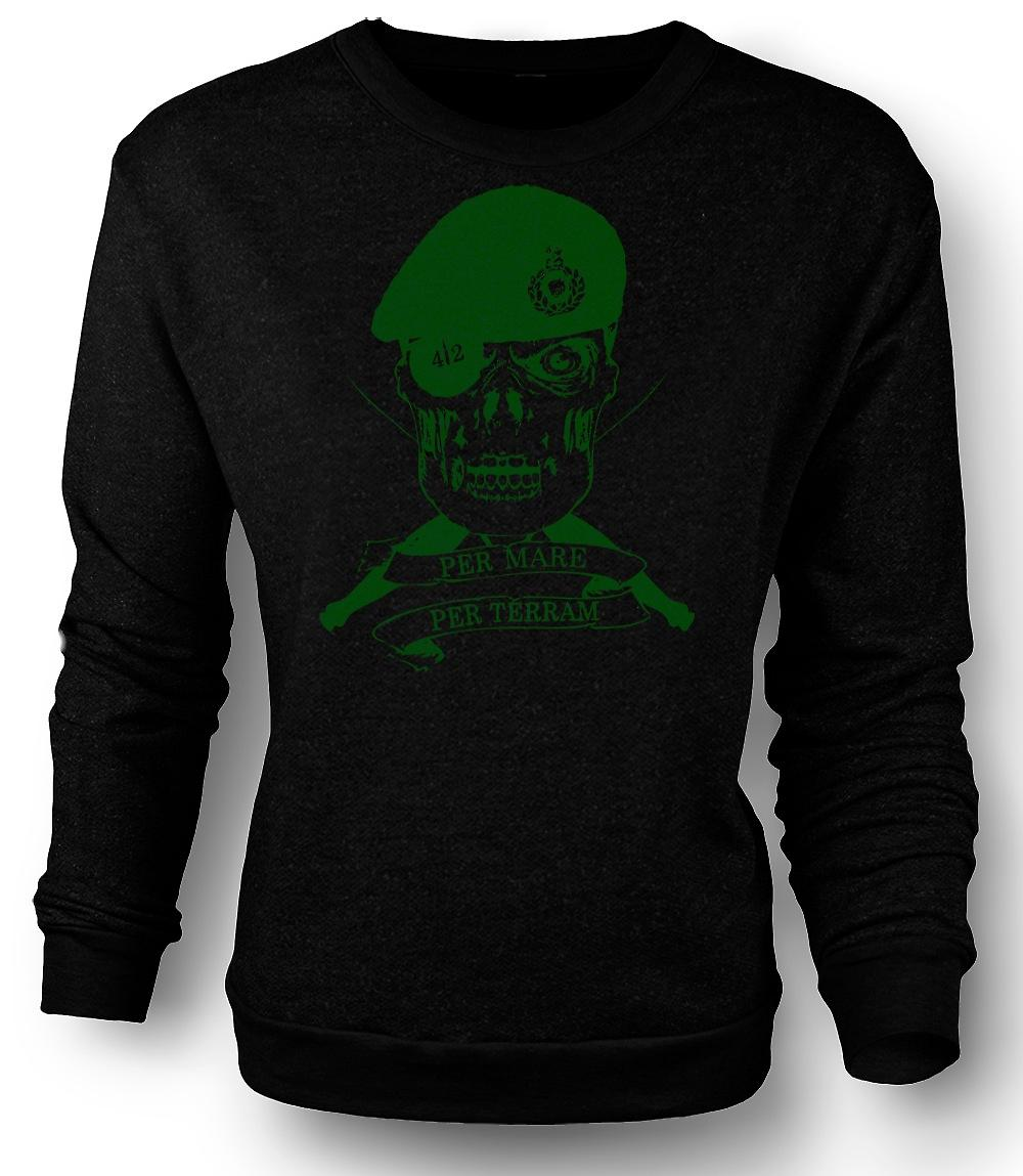 Mens Sweatshirt Royal Marines 42 Cdo Motto