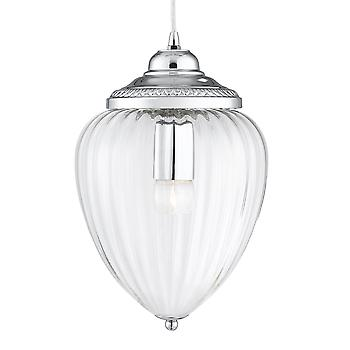 Searchlight 1091CC Chrome 1 Light Hanging Lantern