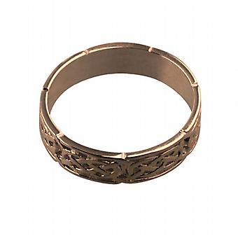 9ct Rose Gold 6mm Celtic Wedding Ring Size R