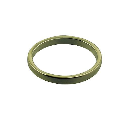 9ct Gold 2mm plain Flat Wedding Ring