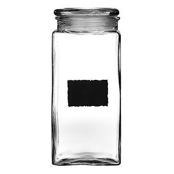 Almacenamiento de pizarra y cristal tarro 2.1L con tablero de tiza