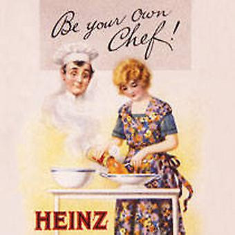 Heinz ''Be Your Own Chef'' drinks mat / coaster