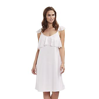 Feraud 3191283-11577 Women's Couture New Rose White Cotton Night Gown Loungewear Nightdress