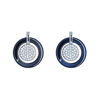 Ah! Jewellery Ceramic Crystal from Swarovski Full Moon Earrings