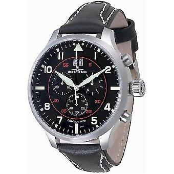 Zeno-watch mens watch of Super oversized Chrono Navigator 6221N-8040Q-a17
