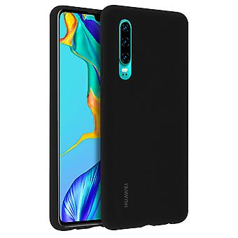 Huawei P30 Hard Protective Car Case, Metal Plate - Black