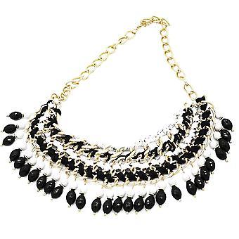 Ladies farverige krystal Aztec stil juvel erklæring Swarovski krystal halskæde