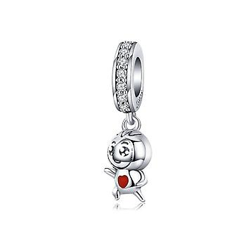 Sterling silver pendant charm Struggle for life
