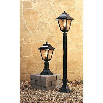 Firstlight - 1 Light 4 Panel Lantern - Pillar Black IP43 - P203BK