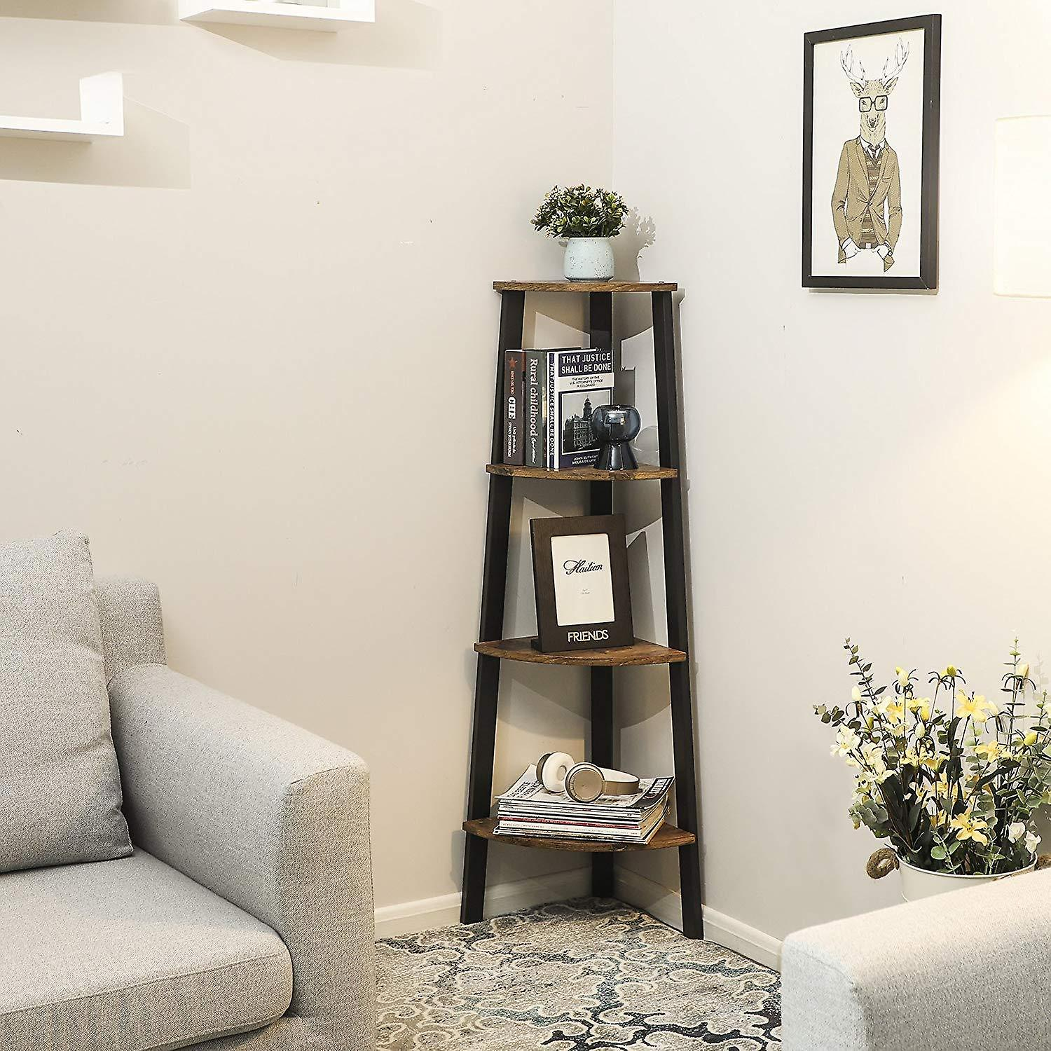 Open Corner cabinet with 4 shelves