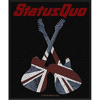 Status quo Union Flag gitaren naai-op doek patch 100mm x 80mm (RZ)